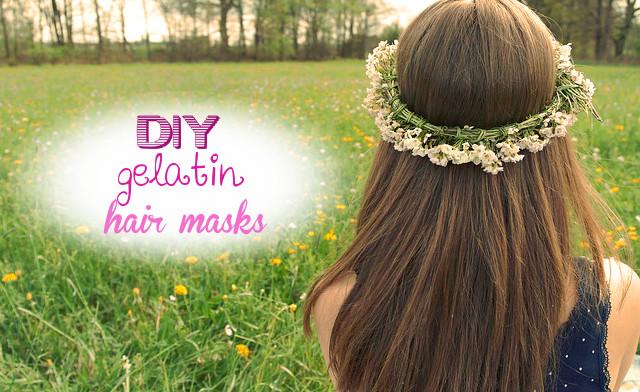 Homemade gelatin hair masks - hair lamination